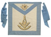 view Masonic apron from the Prince Hall Grand Lodge of Massachusetts digital asset number 1