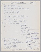 """view Handwritten lyrics to """"You Need Love"""" by Willie Dixon, signed by Ron Wood digital asset number 1"""