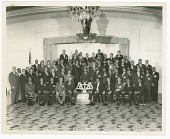 view Group portrait of Alpha Phi Alpha fraternity digital asset number 1