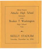 view Program for a Booker T. Washington High School football game digital asset number 1