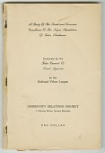 view <I>A Study of the Social and Economic Conditions of the Negro Population of Tulsa, Oklahoma</I> digital asset number 1