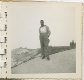 view Digital image of a Taylor family man by a lighthouse on Martha's Vineyard digital asset number 1
