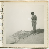 view Digital image of a Taylor family woman by a lighthouse on Martha's Vineyard digital asset number 1