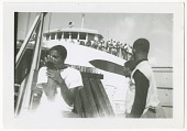 view Digital image of three young men on a dock on Martha's Vineyard digital asset number 1