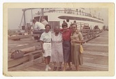 view Digital image of Taylor family members by a ferry boat on Martha's Vineyard digital asset number 1