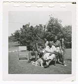 view Digital image of Taylor family members outside their home on Martha's Vineyard digital asset number 1