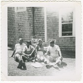 view Digital image of Taylor family couples posing on Martha's Vineyard digital asset number 1