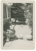 view Digital image of a woman posing at the Taylor family home on Martha's Vineyard digital asset number 1