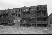 view <I>Rear of apartments - Boston, Mass. - 1971</I> digital asset number 1
