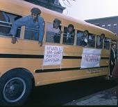 view <I>Yellow school bus - Resurrection City., Wash, D.C. - 1968</I> digital asset number 1