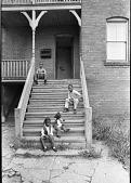 view <I>Kids on steps - Worcester, Mass. - 1968</I> digital asset number 1