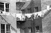 view <I>Building with clothesline & clothes - Boston, Mass. - 1969</I> digital asset number 1