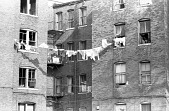 view <I>Building with clothesline - Boston, Mass. - 1969</I> digital asset number 1