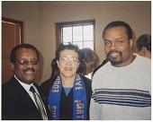 view Digital image of Eddie Faye Gates, Johnnie Cochran, and Kevin Jerome Gates digital asset number 1
