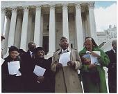 view Digital image of Tulsa Race Massacre survivors before Supreme Court Building digital asset number 1