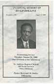 view Funeral program of Hugh Hollins digital asset number 1