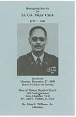 view Funeral program of Lt. Col. Major Clark digital asset number 1