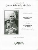 view Funeral program of Jeanne Belle Osby Goodwin digital asset number 1