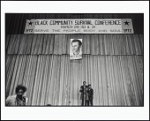 view <I>Bobby Seale Speaks in the Oakland Auditorium During the Black Community Survival Conference, Oakland, California, March 30, 1972</I> digital asset number 1