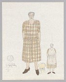 view Costume design drawing by Judy Dearing for Annie in Porgy and Bess digital asset number 1