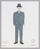 view Costume drawing by Judy Dearing for Selig in Joe Turner's Come and Gone digital asset number 1