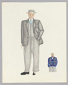 view Costume design drawing by Judy Dearing for an unidentified production digital asset number 1