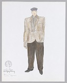 view Costume drawing by Judy Dearing for The Homeless Man in Swinging on a Star digital asset number 1