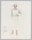 view Costume design drawing by Judy Dearing for Maria in Porgy and Bess digital asset number 1