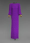 view Purple dress designed by Oscar de la Renta and worn by Whitney Houston digital asset number 1