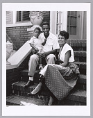 view <I>Jackie Robinson with his wife and son</I> digital asset number 1