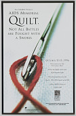 view Poster advertising the AIDS Memorial Quilt events digital asset number 1