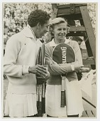 view Photograph of Althea Gibson with Louise Brough digital asset number 1