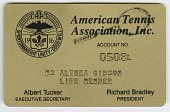 view Membership card to the American Tennis Association for Althea Gibson digital asset number 1