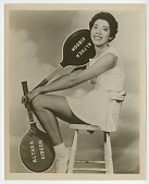 view Photograph of Althea Gibson holding two tennis rackets digital asset number 1