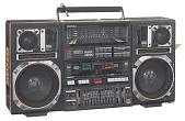 view Boombox carried by Radio Raheem in the film Do the Right Thing digital asset number 1