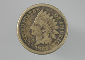 view Indian Head penny owned by the Dennis family digital asset number 1