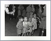 view Photographic print of children watching a saxophone player digital asset number 1