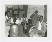 view Photographic print of five jazz musicians digital asset number 1