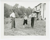 view Photographic print of three young people at Dr. Alma Illery's Camp Achievement digital asset number 1