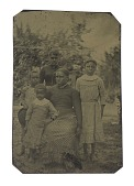 view Tintype of a woman and four children digital asset number 1