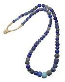 view Cobalt blue European glass trade beads digital asset number 1