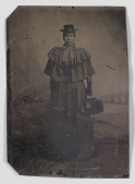 view Tintype of a woman carrying a medical bag digital asset number 1