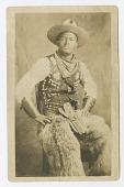 view Photographic postcard portrait of a cowboy digital asset number 1