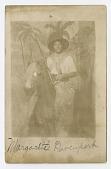 view Photographic postcard portrait of Margarette Davenport in costume digital asset number 1