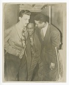 view Photograph of Dizzy Gillespie, Charlie Parker and another man digital asset number 1