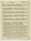 """view Sheet music for """"Hands Off"""" by Suliamon El-Hadi digital asset number 1"""