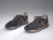 view Pair of blue sneakers worn by Wellington Webb while campaigning digital asset number 1