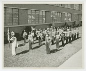 """view Photograph of the St. Augustine High School marching band, the """"Marching 100"""" digital asset number 1"""