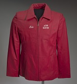 view Red leather Delta Sigma Theta jacket owned by Tobi Douglas A. Pulley digital asset number 1