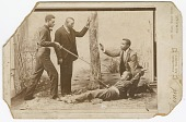 view Photograph of a staged sword duel digital asset number 1